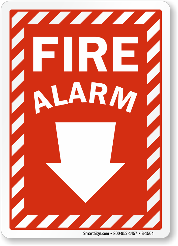 Fire Alarm Signs Glow In The Dark Fire Alarm Signs