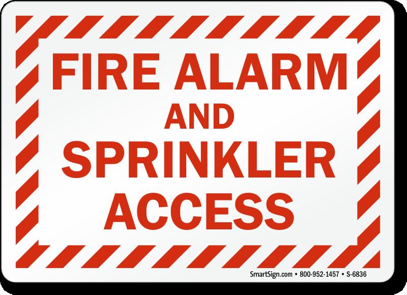 Fire Alarm Sprinkler Access Sign