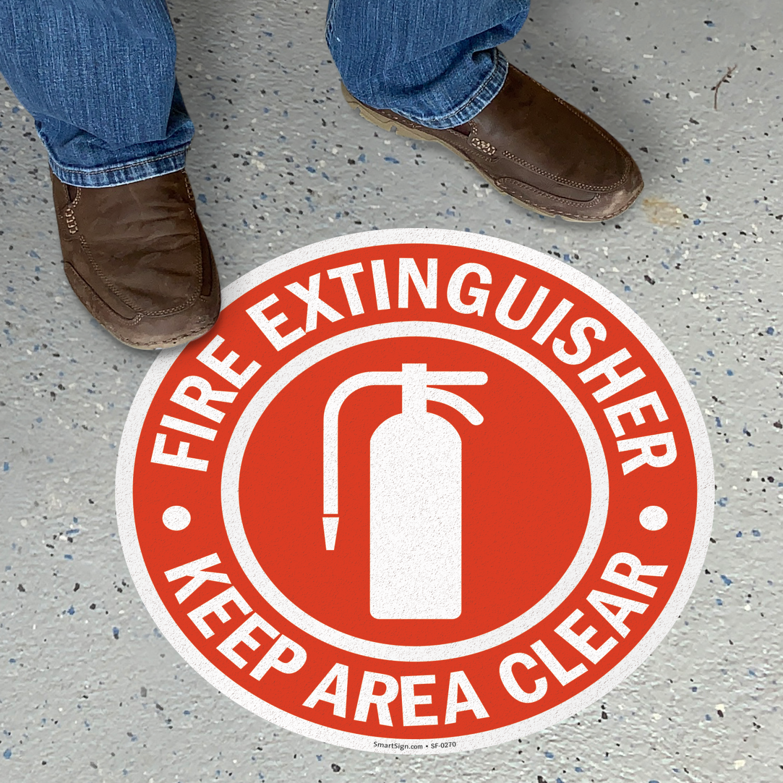 Fire Extinguisher Floor Signs Mysafetysign Com