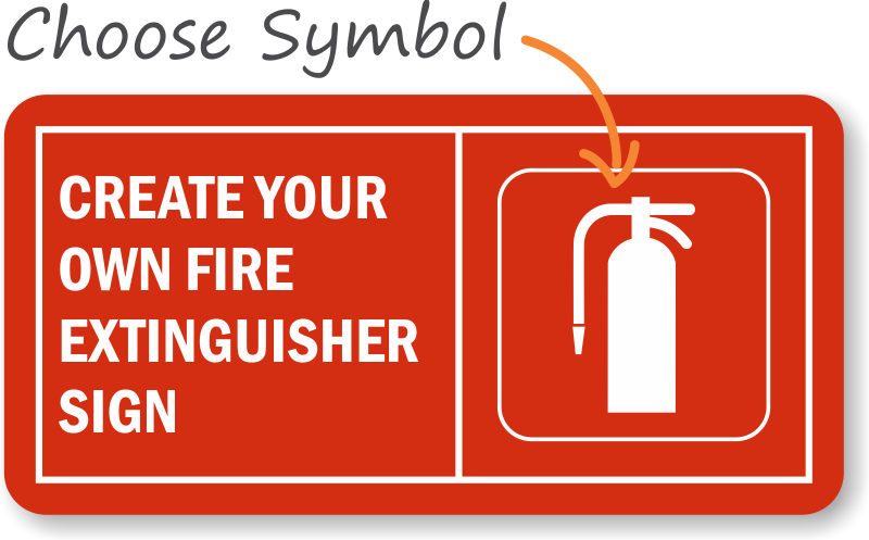 photograph regarding Printable Fire Extinguisher Sign named Personalized Fireplace Extinguisher Indicator, SKU: S-3459 -