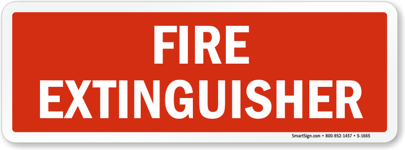 Fire Extinguisher Sign Horizontal Sku S 1665