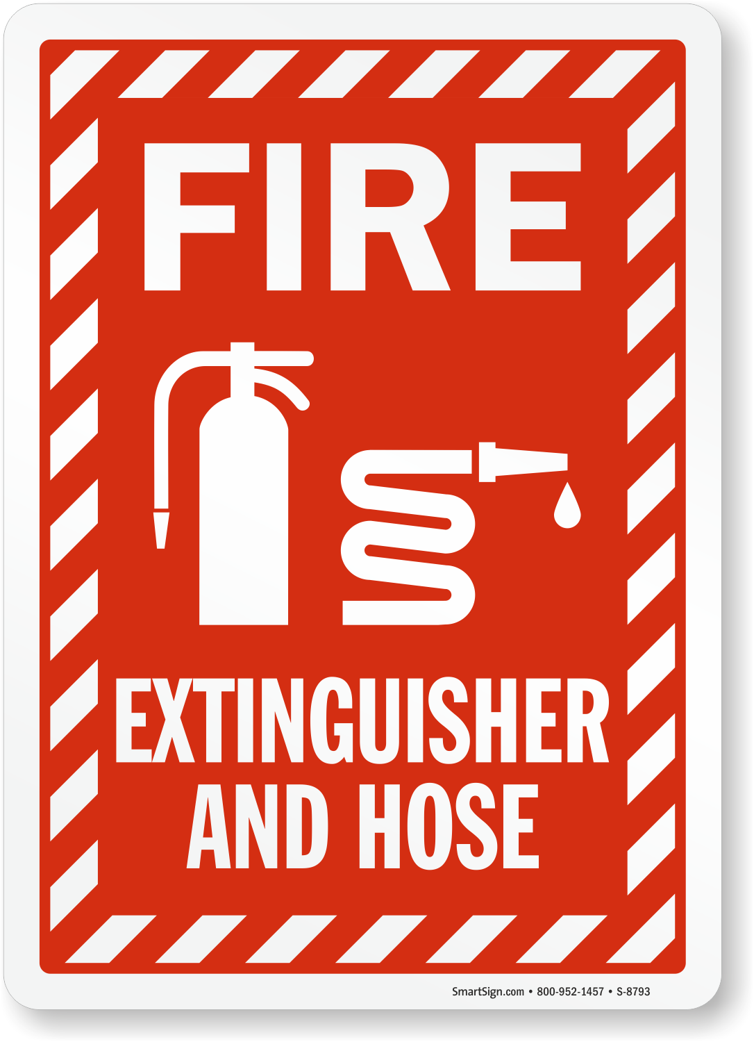 Fire And Emergency Sign Fire Extinguisher And Hose (With Fire Hose Symbol) (S-8793) Learn More.  sc 1 st  MySafetySign.com & Fire Extinguisher And Hose Sign With Graphic SKU: S-8793 ...