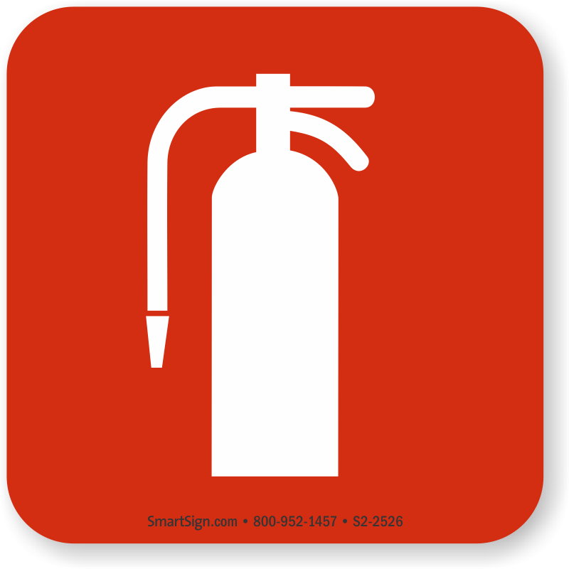 Fire Extinguisher Symbol Nfpa 170 Sign Sku S2 2526 Mysafetysign