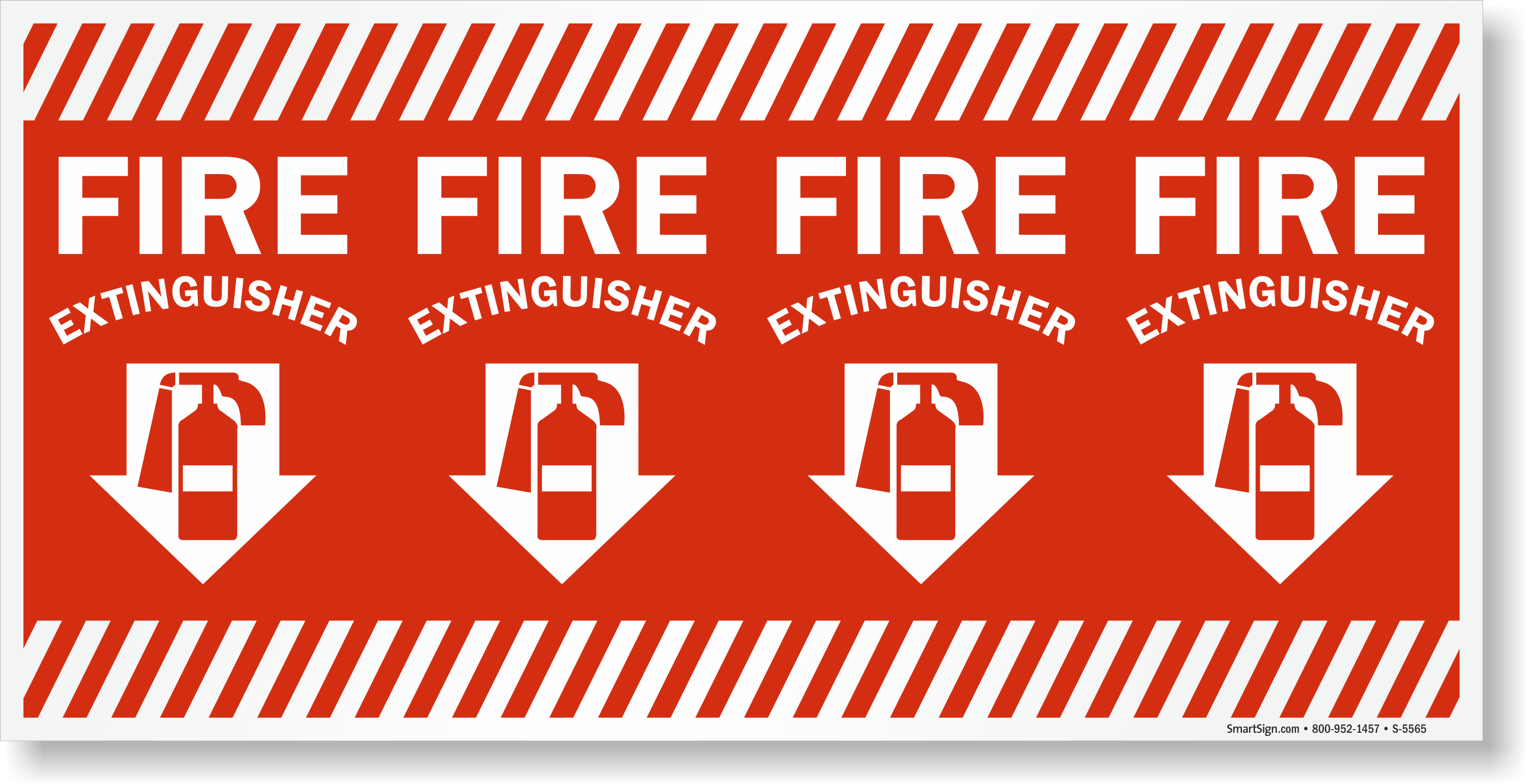 Wrap Around Column Fire Extinguisher Sign Sku S 5565 Eu1224