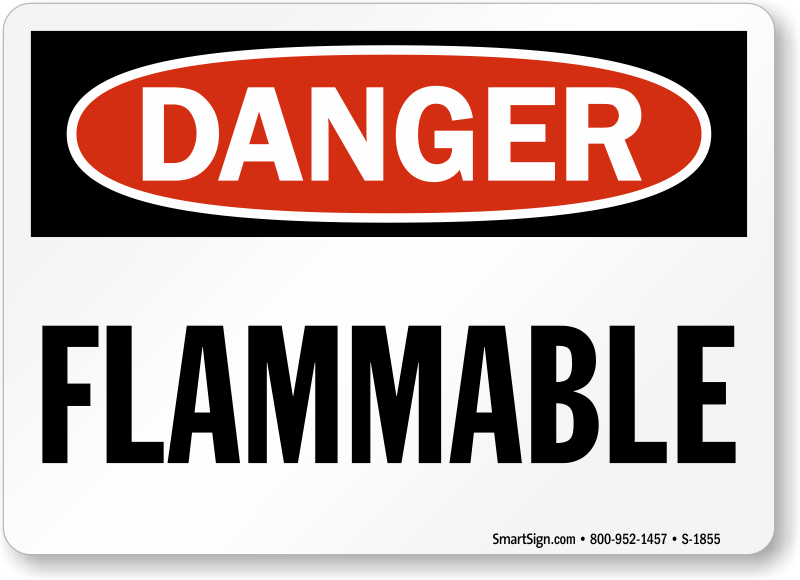 Flammable Signs Flammable Material Signs