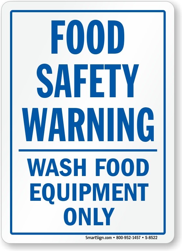 Food Safety Signs Kitchen Safety Signs