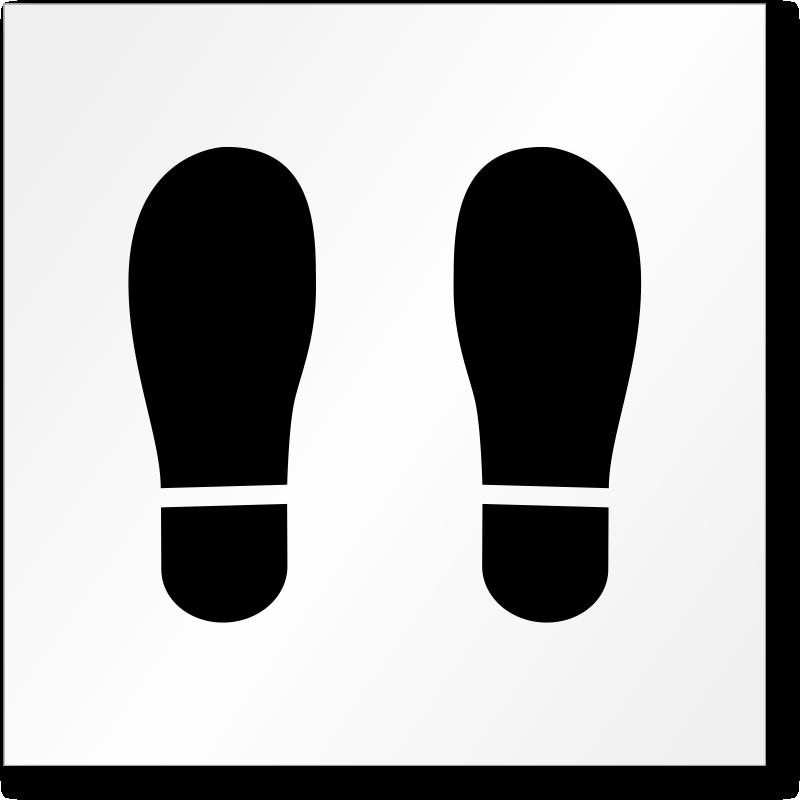footprint symbol floor stencil   find more pavement firemans hat clipart Fireman Helmet Clip Art