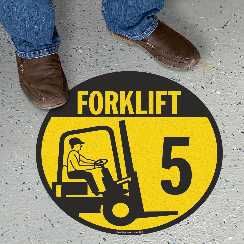 Forklift 5 floor sign sku sf 0196 5 for Floor banner