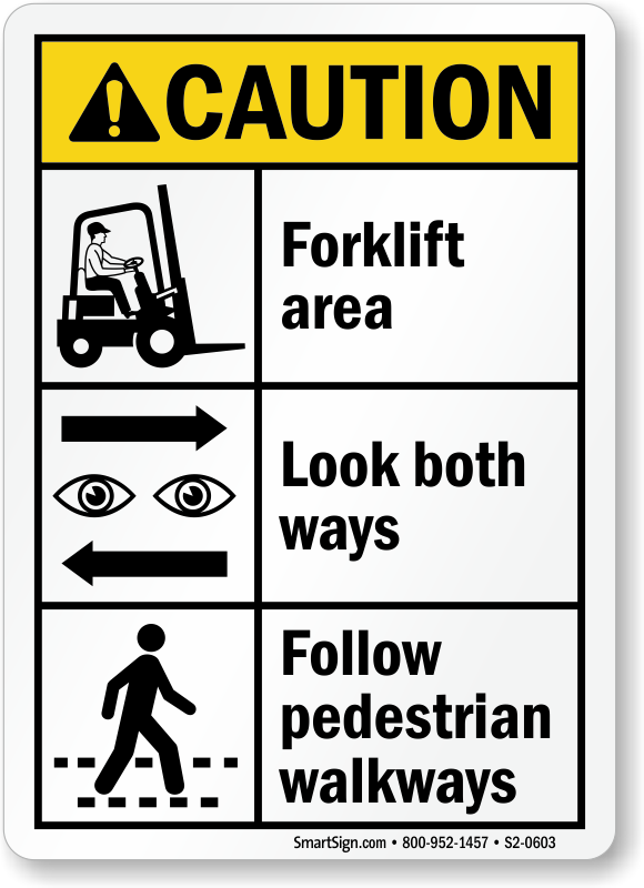 Forklift Area Signs | Forklift Area Keep Clear Signs