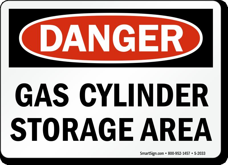 Cylinder Storage Signs | Gas Cylinder Storage Signs