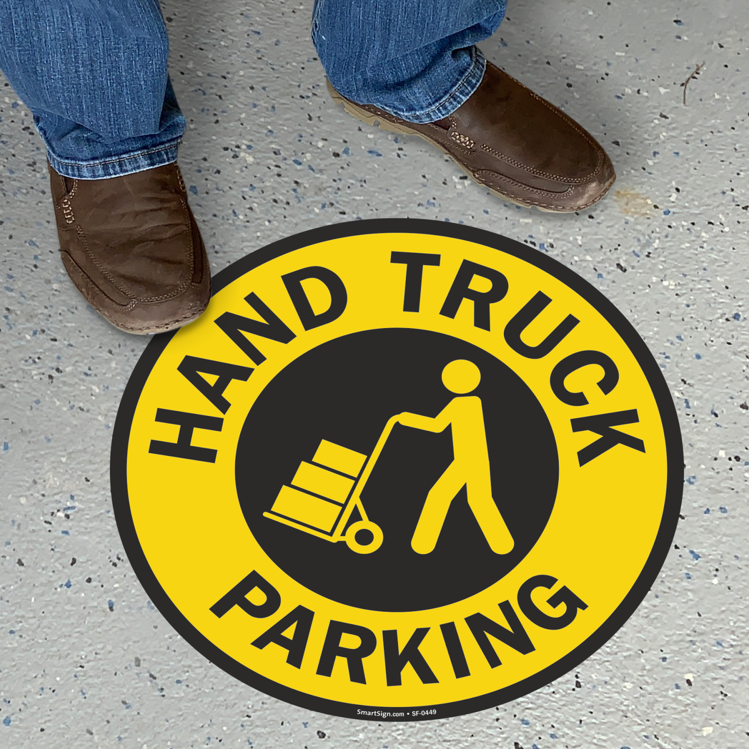 Hand Truck Parking Floor Sign