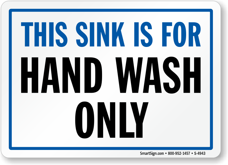 image about Printable Hand Wash Signs known as This Sink is For Hand Clean Basically Indicator, SKU: S-4943