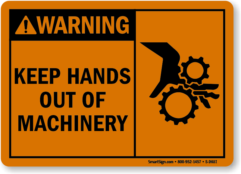 machine warning labels
