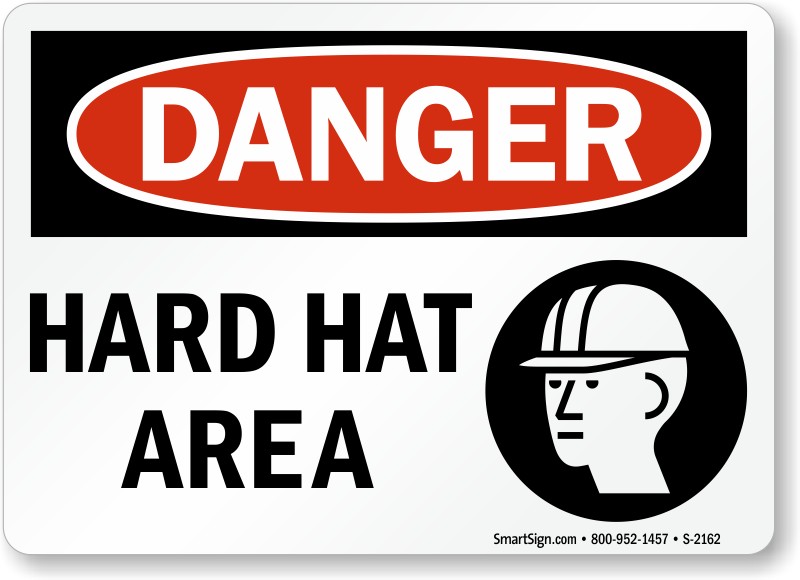 Hard Hat Area Signs Bilingual Hard Hat Area Signs