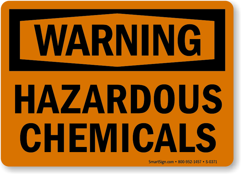 Chemical Hazard Signs Chemical Safety Signs Chemical Warning