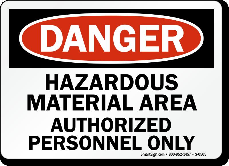 Hazardous Material Signs Hazardous Storage Area Signs