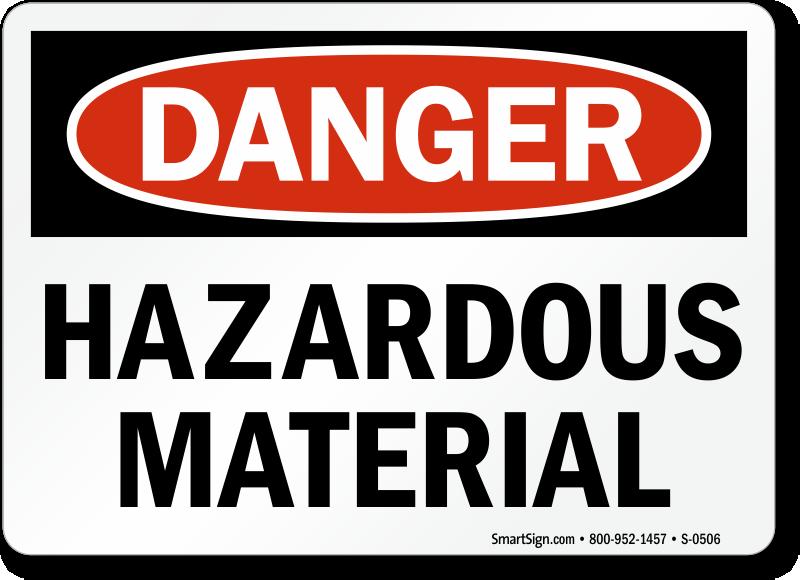 Hazardous Material Sign