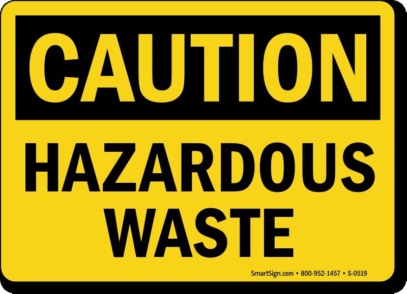 Caution Hazardous Waste Sign