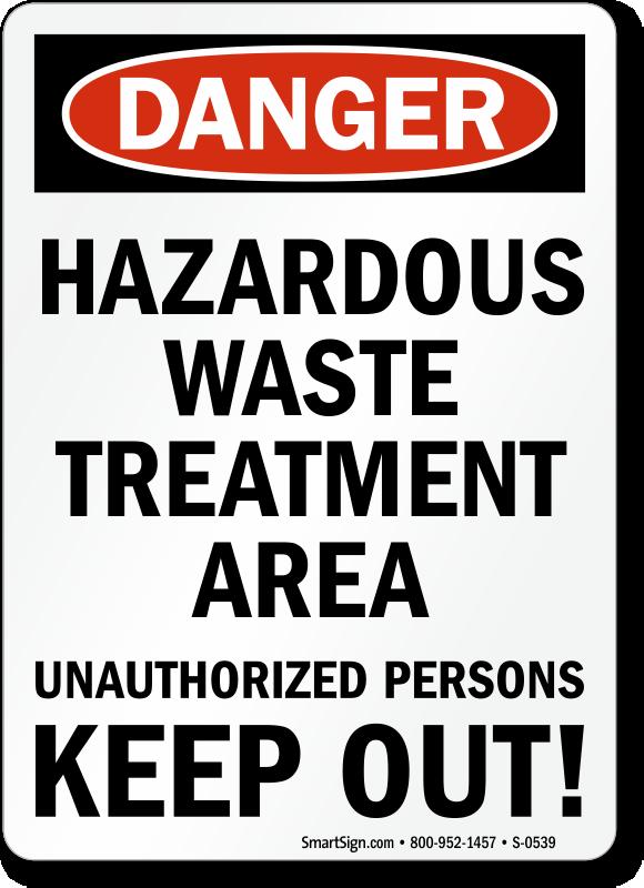Hazardous Waste Storage Area Signs Mysafetysign Com
