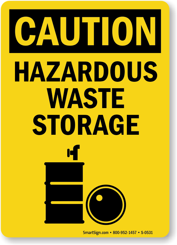 Hazardous Waste Storage Signs Mysafetysign Com