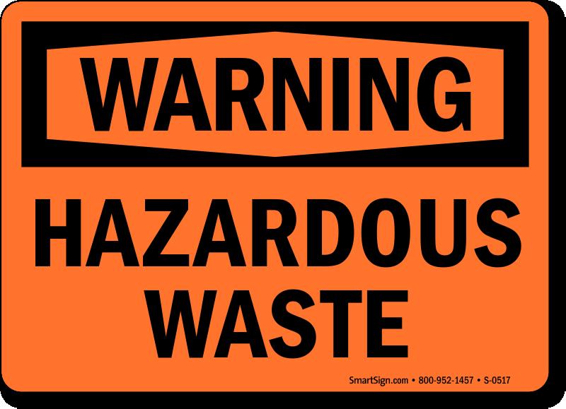 Hazardous Waste Signs Hazwaste Signs Mysafetysign