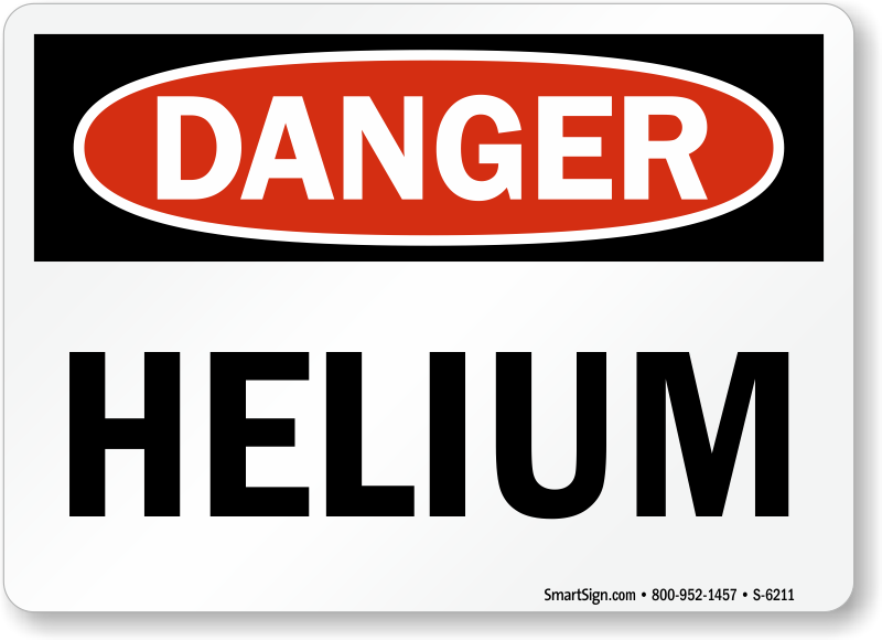 Helium Signs Helium Warning Signs Mysafetysign Com