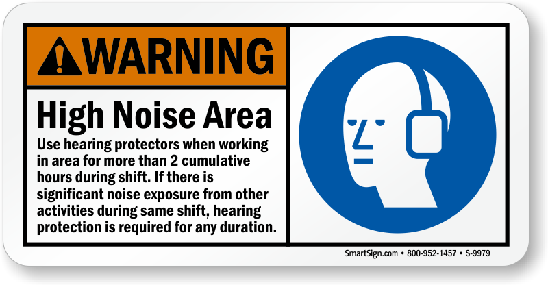 High Noise Area ANSI Warning Sign