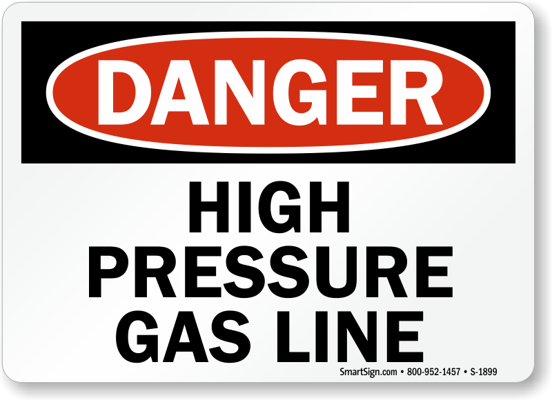 High Pressure Signs High Pressure Warning Signs