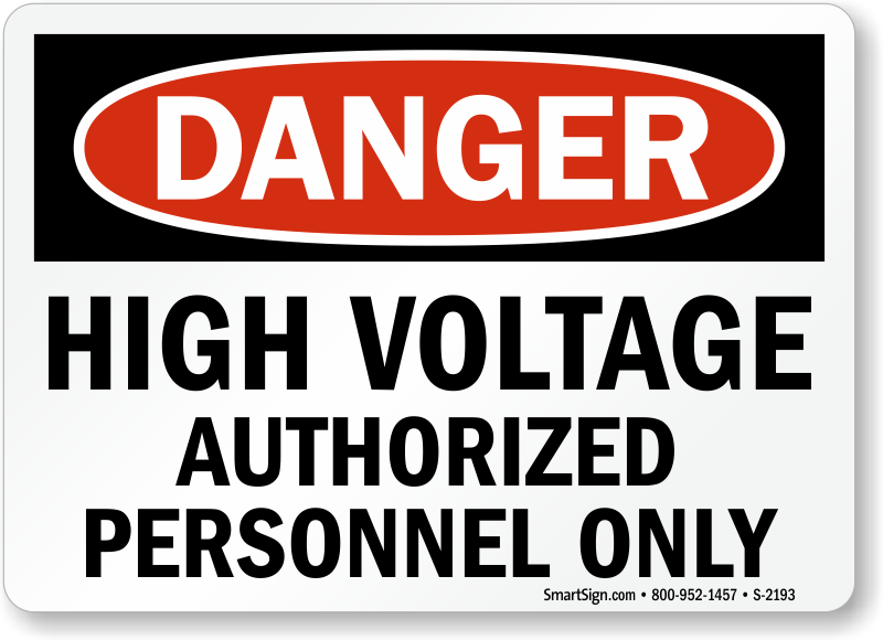 High Voltage Safety Training : High voltage signs free shipping on orders over