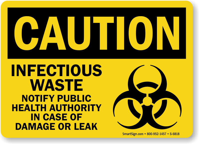 Contaminated Clothing Signs Soiled Linens Biohazard Signs