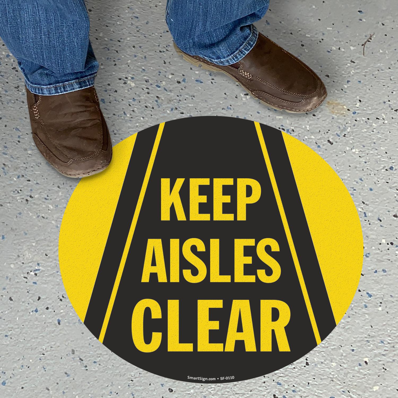 Warehouse Aisle Signs Keep Aisles Clear Signs