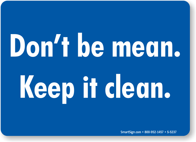 Housekeeping signs free shipping from mysafetysign for How to keep the kitchen clean