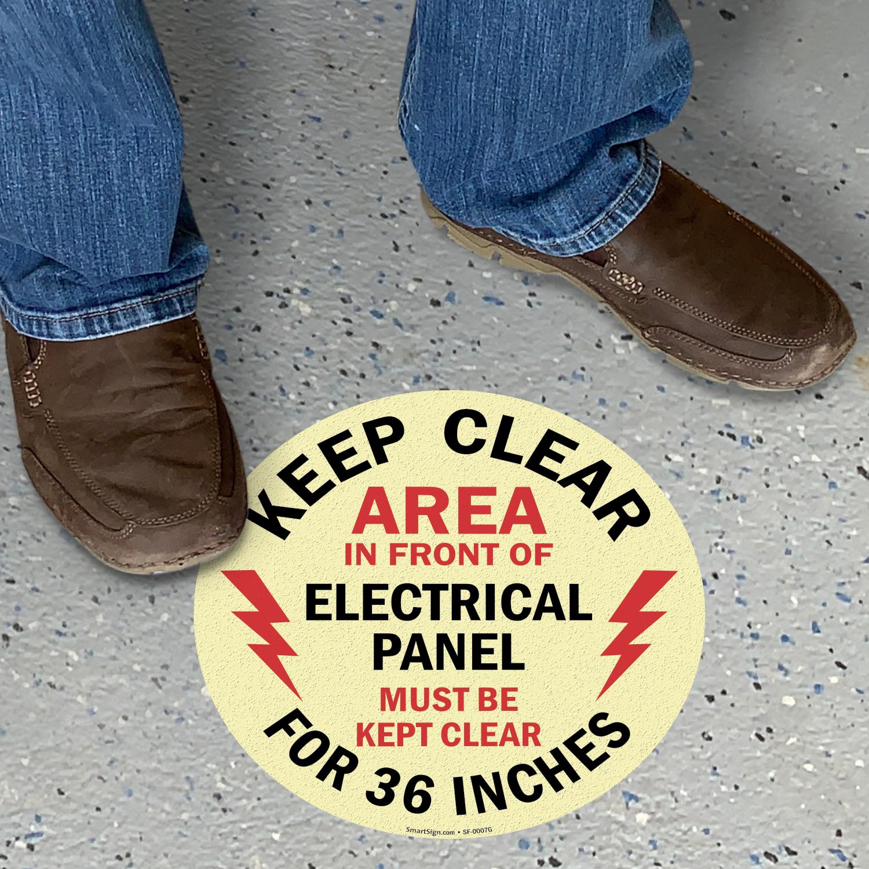 Keep Clear 36 Inches Circular Glow Floor Sign