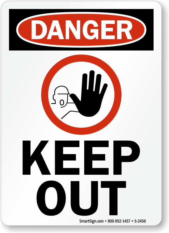 danger keep out with graphic sign sku s2456