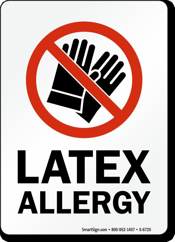 Latex Allergy No Gloves Symbol Sign