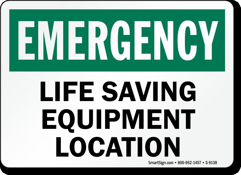 Life Saving Equipment Location Sign