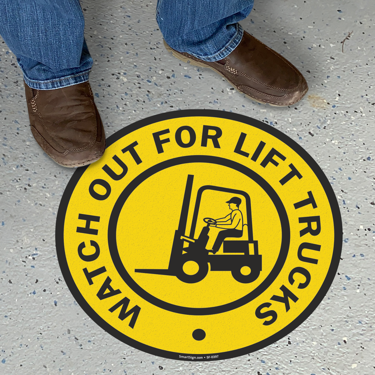 Watch Out For Lift Trucks SlipSafe Floor Sign
