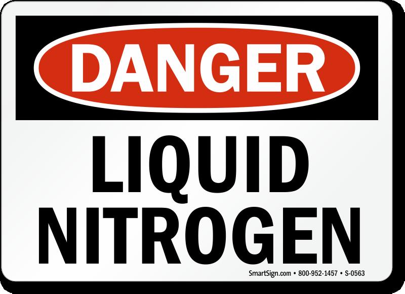 Danger Liquid Nitrogen Sign