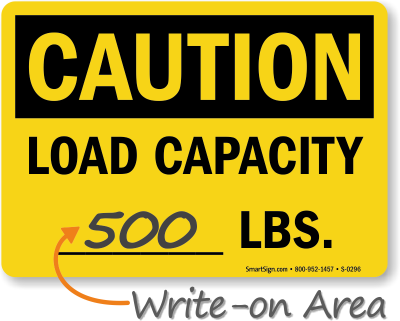 Weight Capacity Signs | Floor Load Capacity Signs