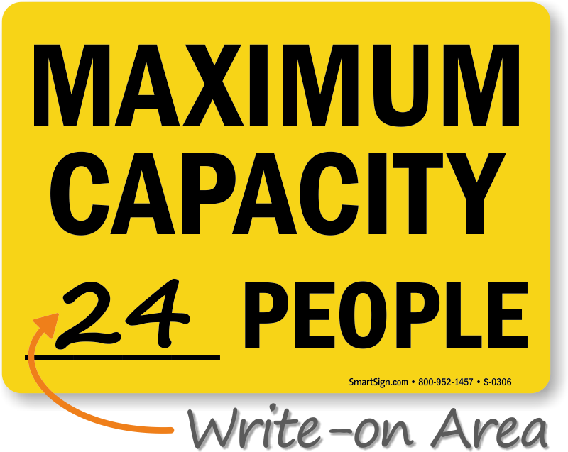 Maximum Capacity People Sign