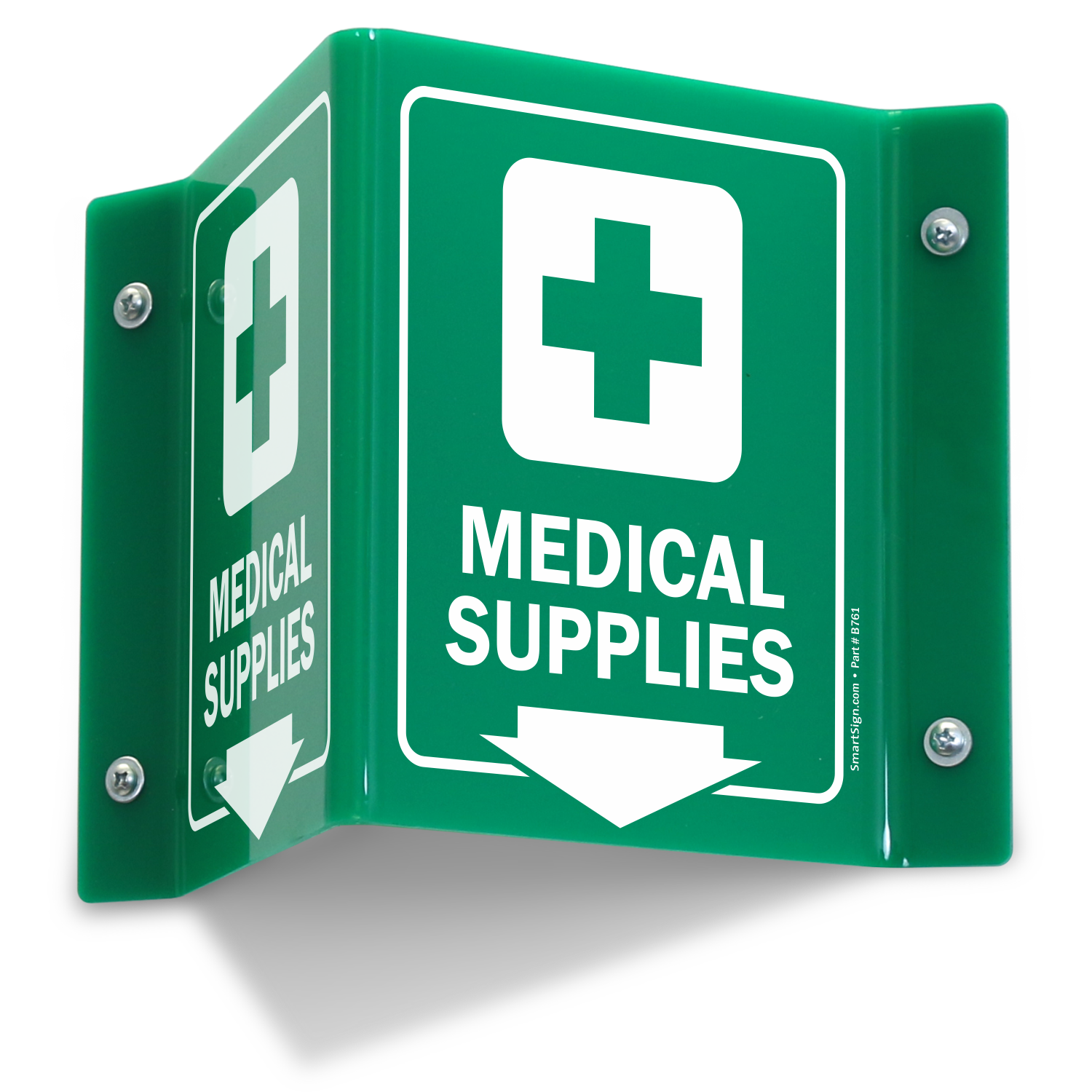 Medical Supplies Projecting Sign