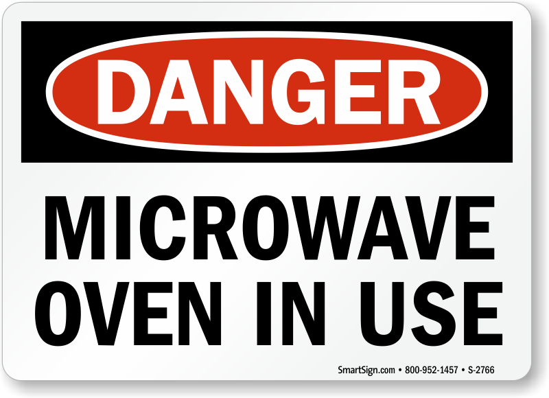 Microwave Safety Signs Microwave Hazard Signs