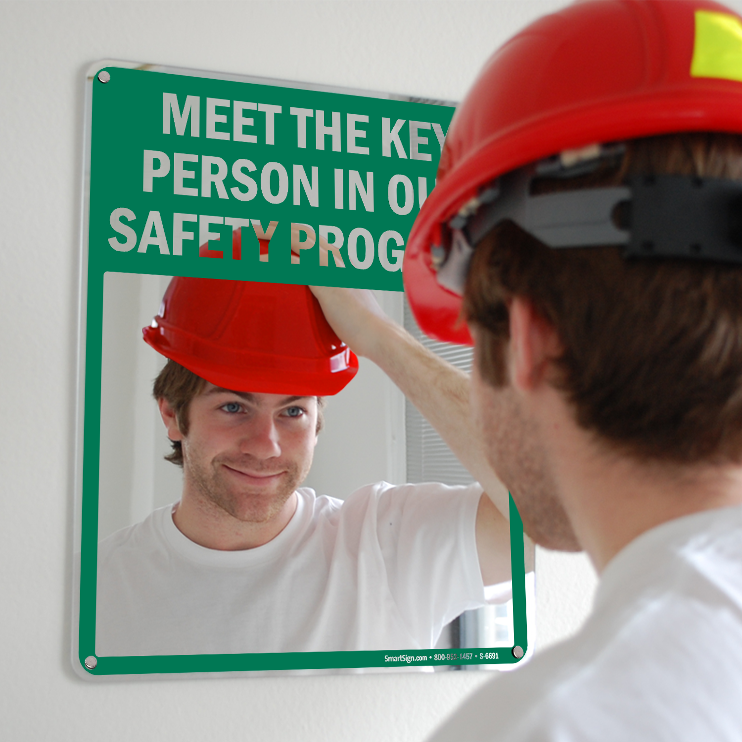 Bathroom mirror decals - Mirror Message Signs Safety Messages Printed Right On A