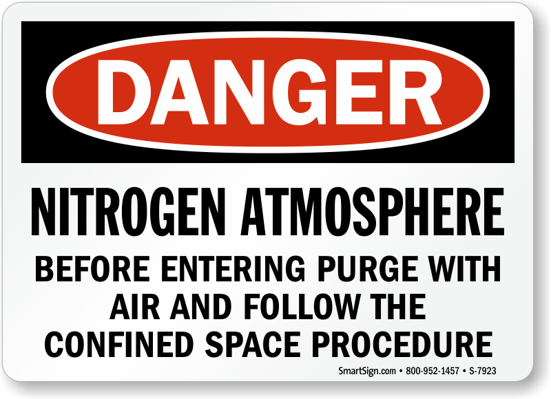Nitrogen Atmosphere Before Entering Purge With Air Sign