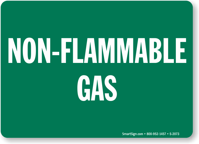 non-flammable gas - compressed gas sign, sku: s-2073