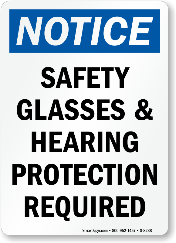 Hearing Protection OSHA Notice Sign, SKU: S-8238 ...