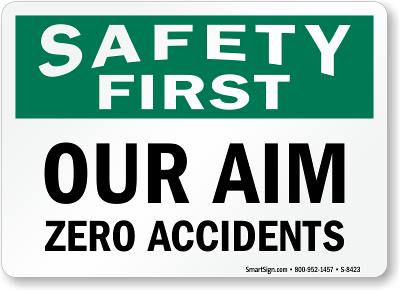 Report Accidents Signs | Free Shipping from MySafetySign