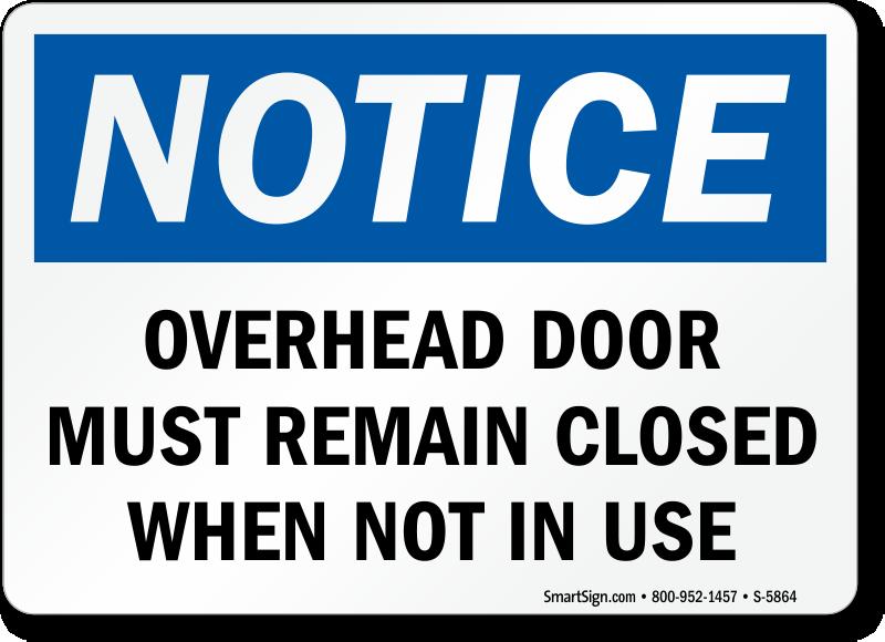 dock door warning signs check door clearance signs
