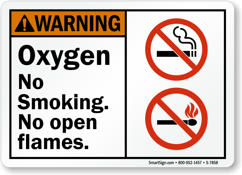 Oxygen Signs Oxygen In Use Signs No Smoking Oxygen