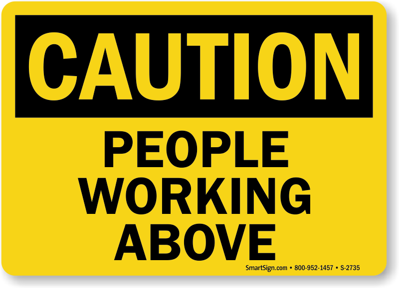 working at height safety signage choice image